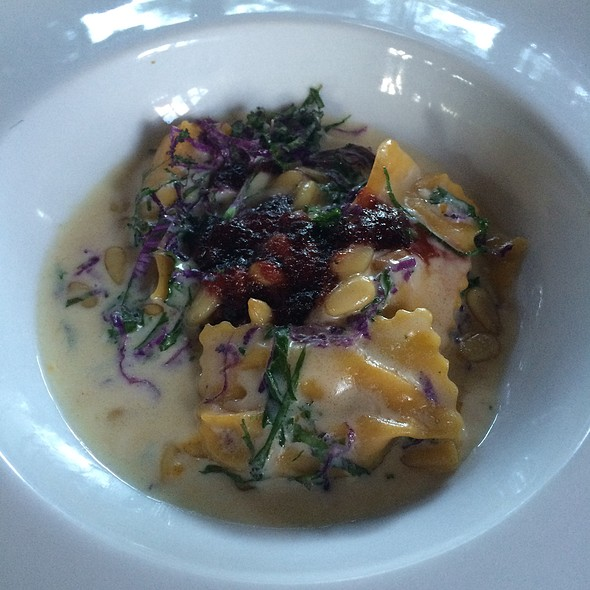 butternut squash agnolotti - Saddle Peak Lodge, Calabasas, CA