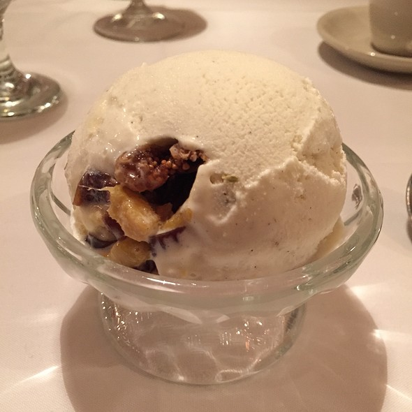Cardamom Ice Cream With Figs, Dates And Mango - The Helmand Restaurant, Baltimore, MD