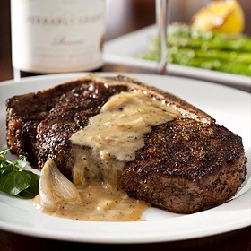14 oz Bone-In Kona Crusted Dry Aged Sirloin  with Shallot Butter - The Capital Grille - Minneapolis, Minneapolis, MN