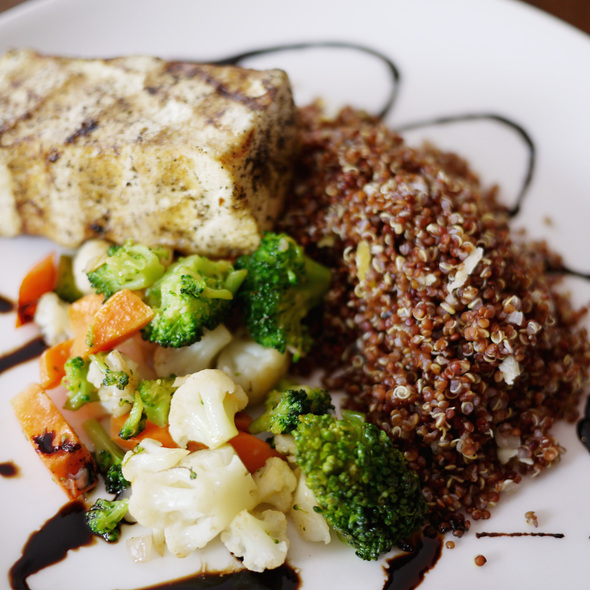 Grilled Tofu with Quinoa and Vegetables - Sanctuary T, New York, NY