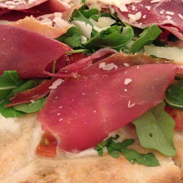 Gluten-Free Fresh Mozzarella, Prosciutto, Arugula Pizza - PizzArte, New York, NY