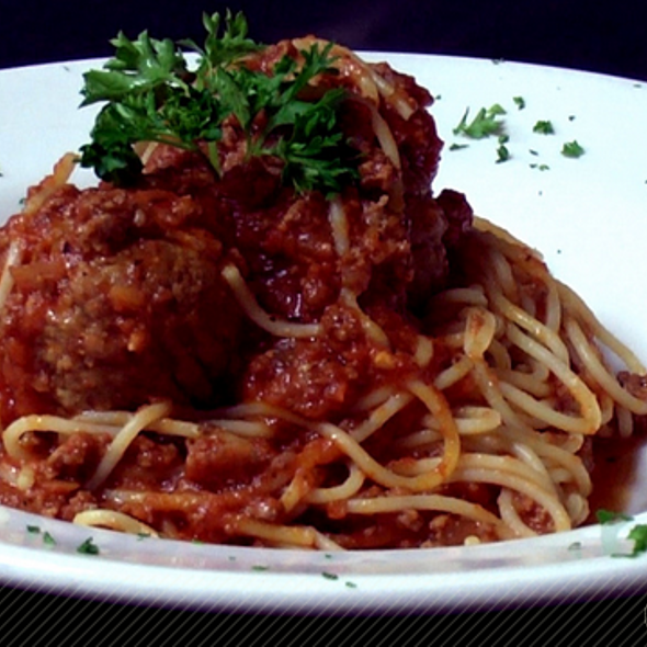 Spaghetti and Meatballs - Backstreet Bistro, Palm Desert, CA
