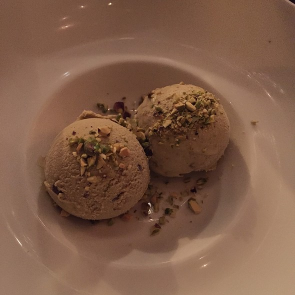 Pistachio Gelato With Chocolate Chips - Mucca Osteria, Portland, OR
