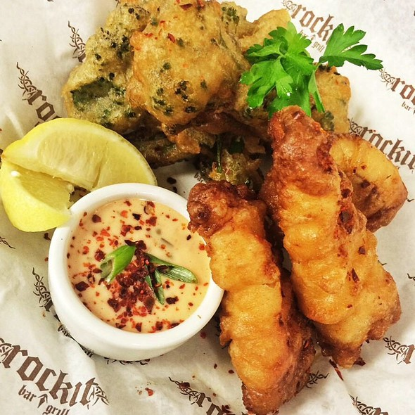 Beer Battered Walleye - Rockit Bar & Grill, Chicago, IL