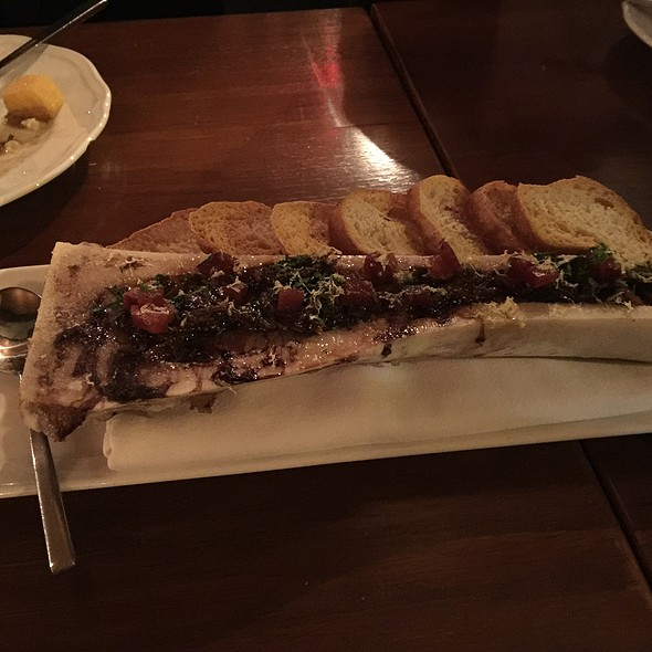 Roasted Bone Marrow W/ Oxtail & Plum Marmalade - Campagnolo - Toronto, Toronto, ON