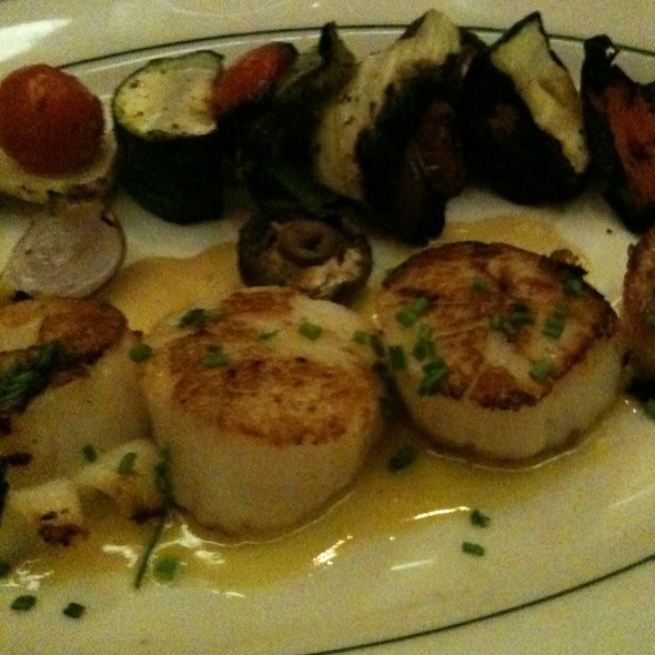 Seared Scallops With Grilled Vegetables - The Grill on the Alley - Westlake Village, Westlake Village, CA