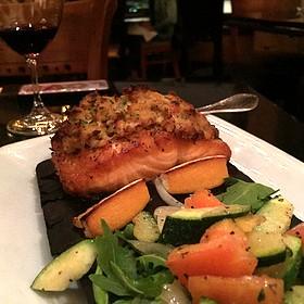 Crab Crusted Salmon - Formaggio Grill Kailua, Kailua, HI