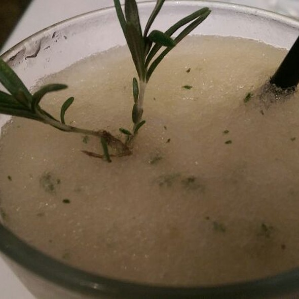 Rosemary Peach Bellini  - The Eclectic Restaurant - Fine Food and Spirits, North Hollywood, CA