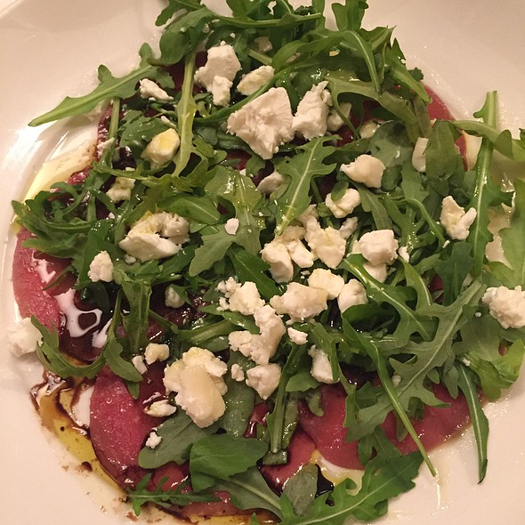 Beef Carpaccio With Goats Cheese And Rocket - Bacco Restaurant, Richmond, Greater London