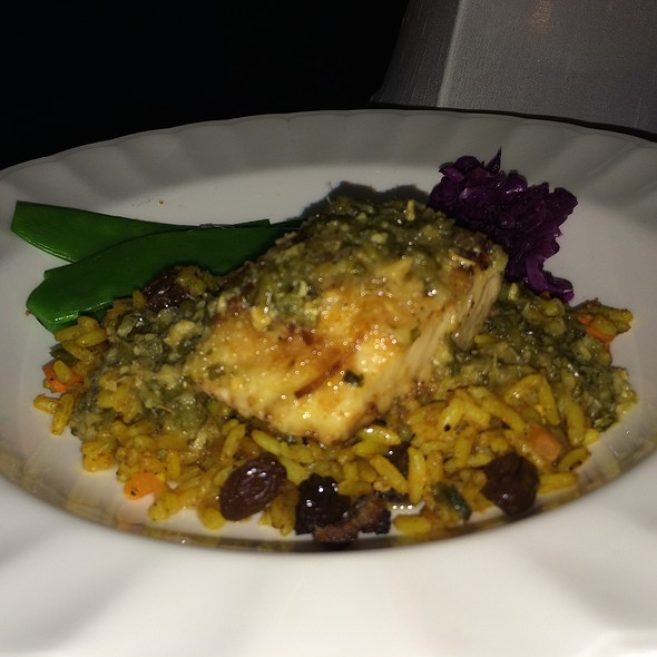 Coconut Crusted Mahi And Curry Rice - Blanchard's, Meads Bay, Anguilla