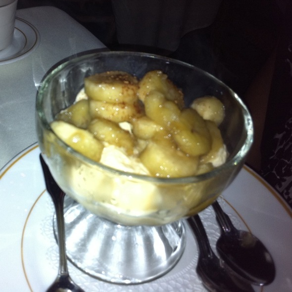 Banana Flambee With Vanilla Ice Cream - Melvyn's Restaurant, Palm Springs, CA