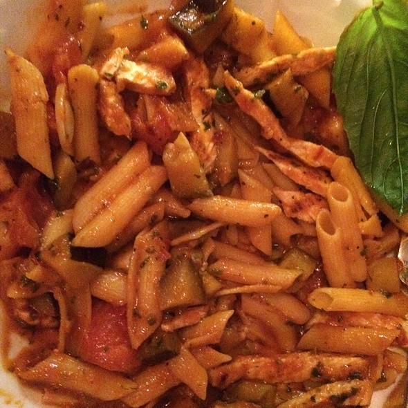 Penne Arrabiata With Eggplant And Chicken - Panzanella Ristorante, Sherman Oaks, CA
