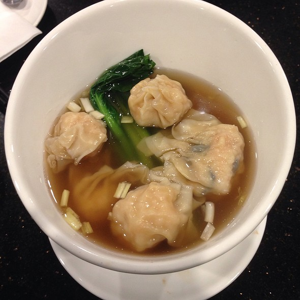 Shrimp Dumplings And Wonton Noodle Soup