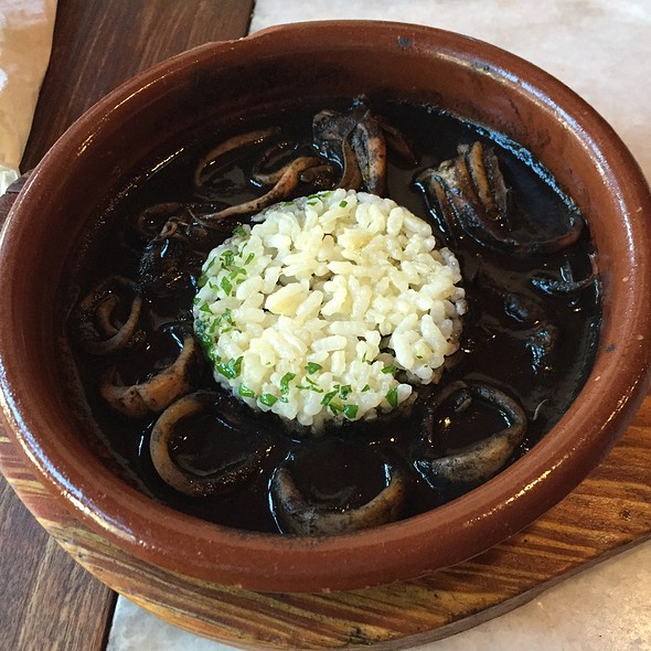 squid in ink with rice - Tía Pol, New York, NY