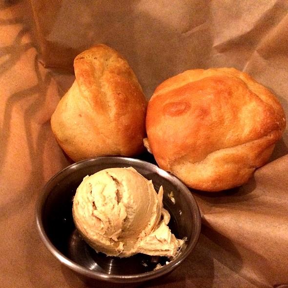 Spoonbread & Sorghum Butter - Chicken and the Egg, Marietta, GA