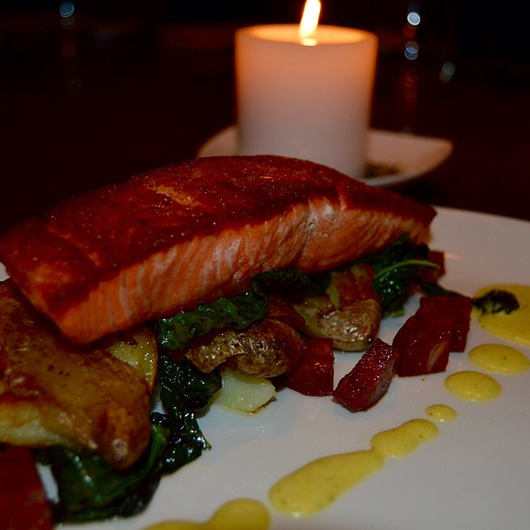 Cast Iron Seared Salmon - Noe at the Omni Los Angeles, Los Angeles, CA