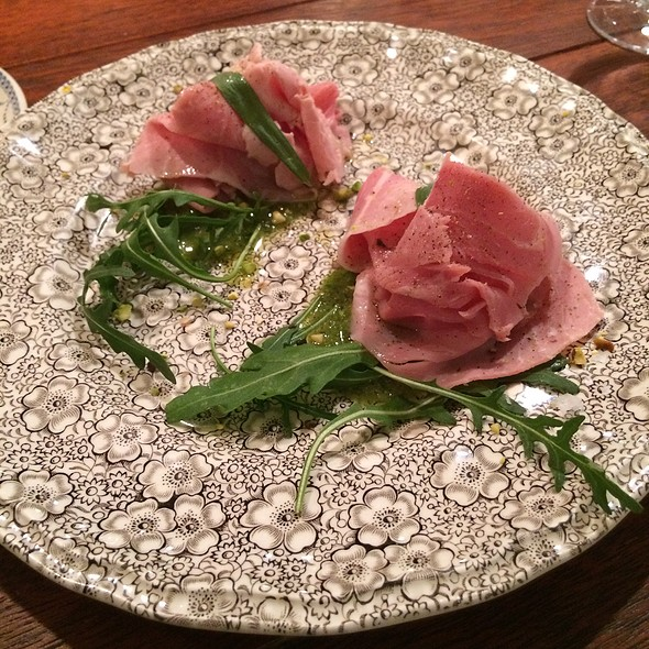 Spanish Ham With Arugula Pesto - Les Filles du Roy, Montreal, QC