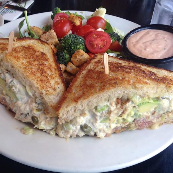 Tuna Melt With Chopped Salad - Max's Opera Cafe, San Francisco, CA