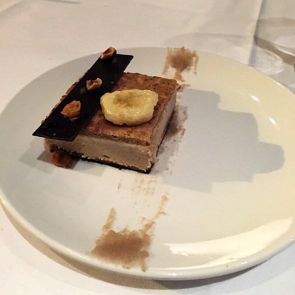 Black Chocolate, Banana Dacquoise, Hazelnuts - Verses Restaurant, Montréal, QC