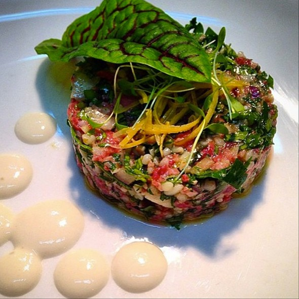 Lamb Tartare With Mint, Lemon And Bulger - Rouge et Blanc, New York, NY