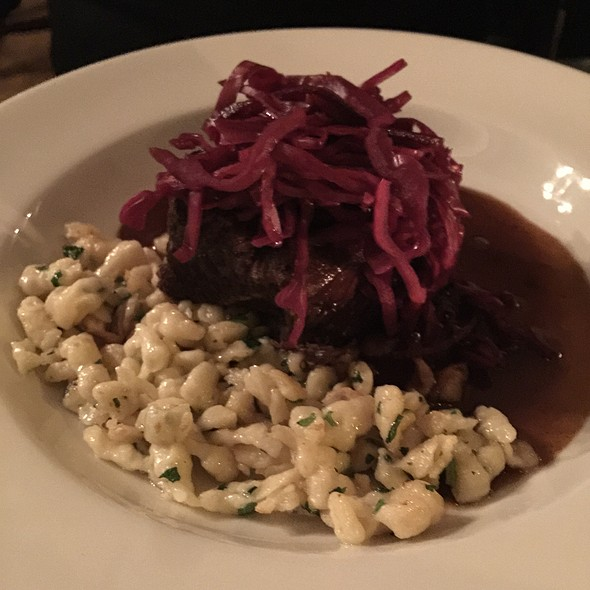 Spiced Red Wine & Ginger Braised Short Ribs - Satis Bistro - Jersey City, Jersey City, NJ