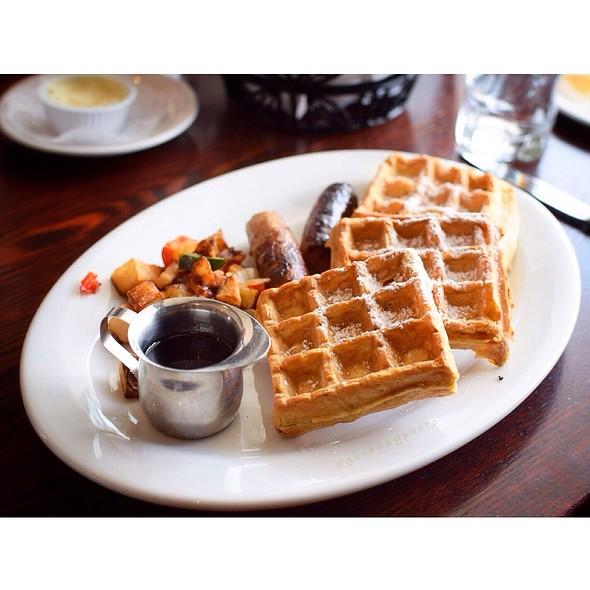 Belgian Pecan Waffles - Black Bass Hotel, Lumberville, PA