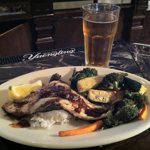 Grilled Trout With Ginger-Soy Reduction And Steamed Veggies - Tidewater Grill - Charleston, Charleston, WV