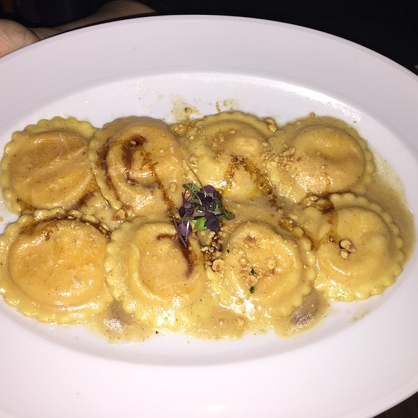 Ravioli With Truffel And Mushroom And Parpadell With Italian Sausage Sauce - Abboccato, New York, NY