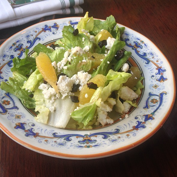 escarole salad, fresh sheeps milk cheese, oven dried olives, burnt orange vin - Accanto, Portland, OR