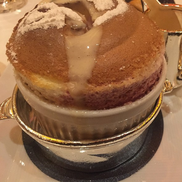 Raspberry Souffle with Raspberry Creme Anglais - Le Cirque - Bellagio, Las Vegas, NV