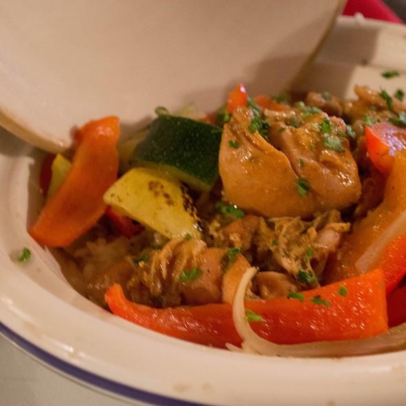 Moroccan curry chicken - Cedars of Lebanon, Salt Lake City, UT