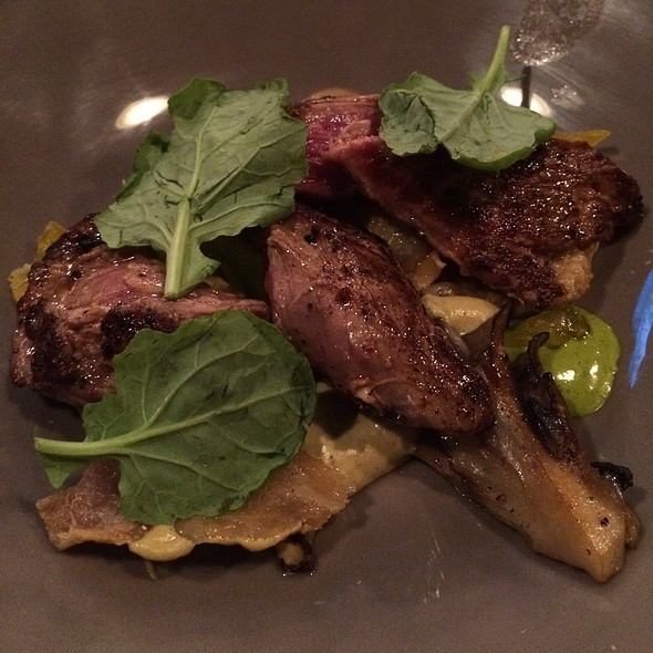 Veal Hanger Steak With Crispy Chicken Skin And Salt Cured Egg - Epiphany Farm-to-Fork, Tuscaloosa, AL