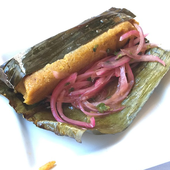 Pork Tamal - Mango Peruvian Restaurant, St. Louis, MO