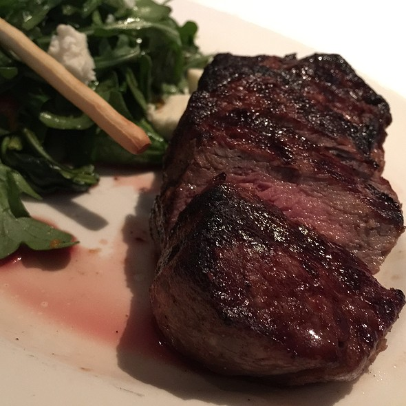 Dry Aged Sirloin With Roasted Red Peppers, Mozzarella And Arugula - The Capital Grille - NY- Wall Street, New York, NY