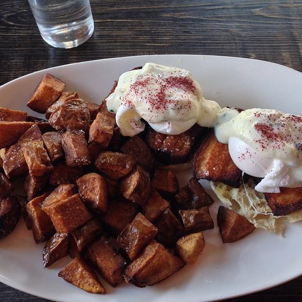 Pork Eggs Benedict - Mezetto, New York, NY