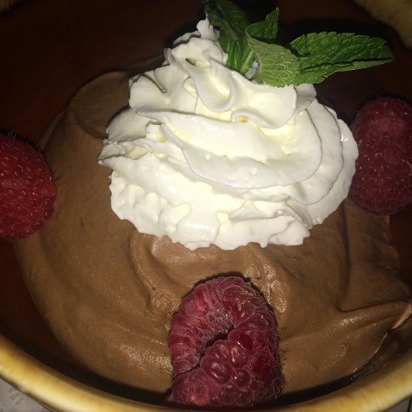 Dark Chocolate Mousse - Arielle's Country Inn, Sellersville, PA