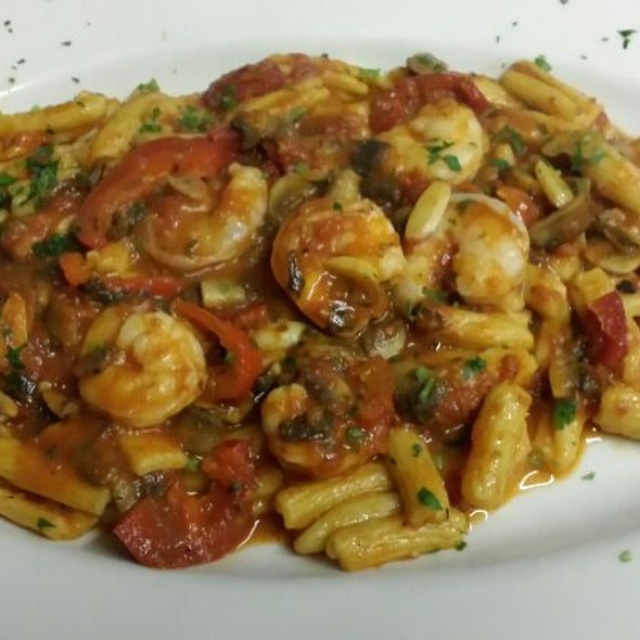 Cavatelli With Shrimp, Mushrooms & Hot Cherry Peppers Equals Delicious - Trattoria Lucia, Bellerose, NY