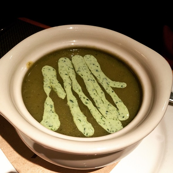Green Chile Soup - Dry Creek Grill, San Jose, CA