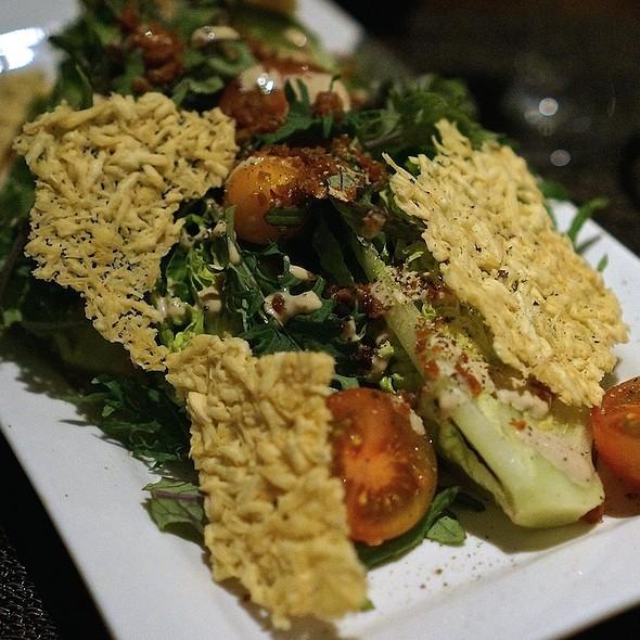Superfood Caesar salad, kula romaine, nalo baby kale, Portuguese sausage, parmesan - Beachhouse - Moana Surfrider, Honolulu, HI