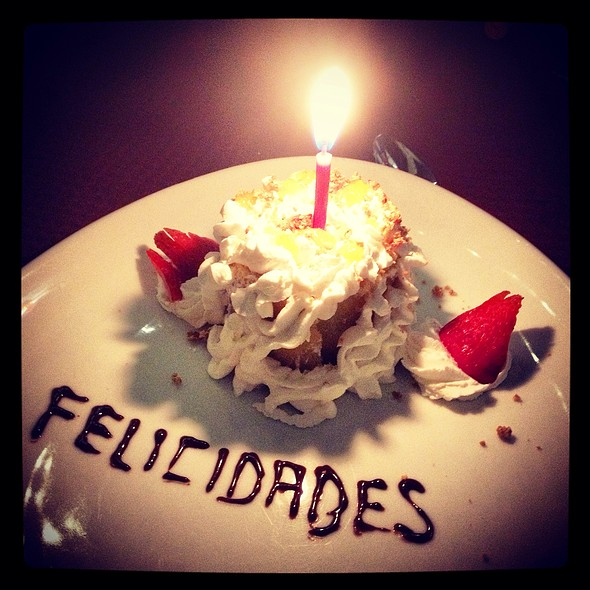 Birthday cake - Meson Del Cid, Mexico City, CDMX