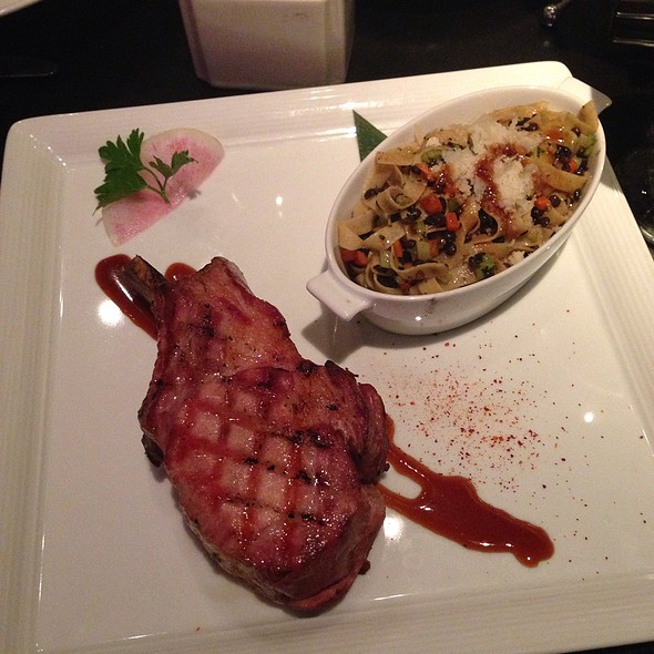 "Grilled Double ""Kobe"" Pork Chop - The Mercury, Dallas, TX"