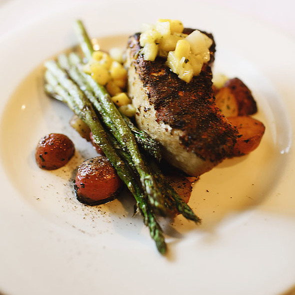 Blackened Wood grilled Swordfish - Buckley's Great Steaks, Merrimack, NH