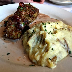 Pistachio Crusted Halibut With Door County Cherries - Zarletti - Downtown, Milwaukee, WI