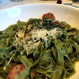 Pesto Spinach Fettucini - Bella Aquila, Eagle, ID