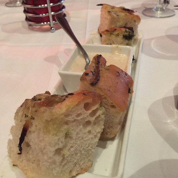 Onion Focaccia Bread With Blue Cheese Sauce - Johnny V, Fort Lauderdale, FL