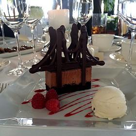 Chocolate Marquise Brooklyn Bridge - River Cafe, Brooklyn, NY
