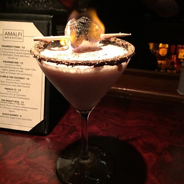 Campfire Martini - Butterscotch Restaurant, Los Angeles, CA