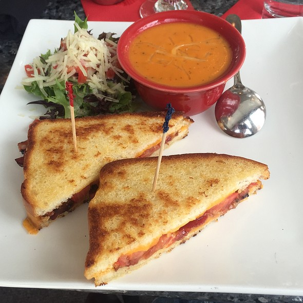 Grilled Cheese With Bacon & Tomato Soup - Martini's Bistro, Longmont, CO
