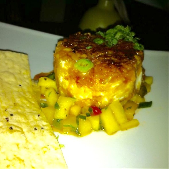 Macadamia Encrusted Goat Cheese With Mango Salsa - Tommy Bahama Restaurant & Bar - Scottsdale, Scottsdale, AZ