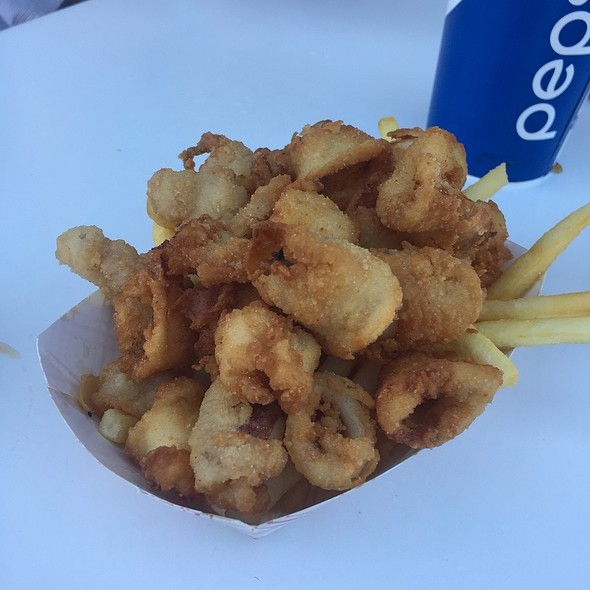 Calamari And Chips - Abalonetti Bar and Grill, Monterey, CA